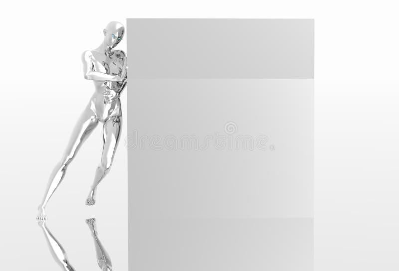 Download Platinum girl stock illustration. Image of shadow, reflection - 1402971