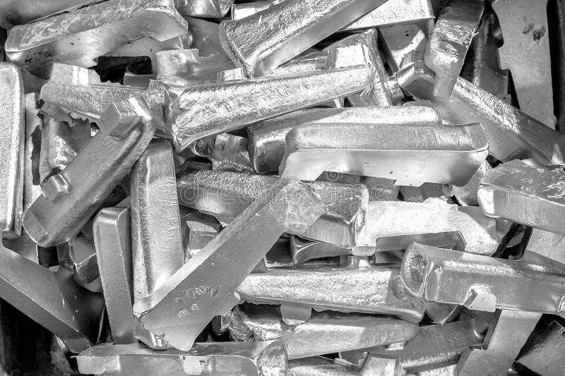 Platinum ingots background. Metal texture. Silver backgroun. Stainless steel, aluminium, white gold. Platinum ingots background. Metal texture. Silver backgroun royalty free stock images