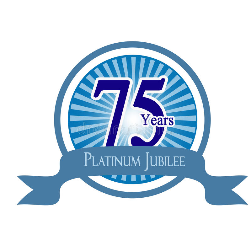 Platinum jubilee royalty free stock image