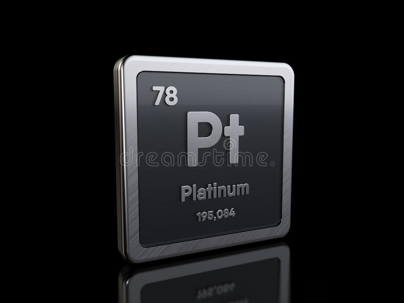 Platinum Pt, element symbol from periodic table series royalty free illustration