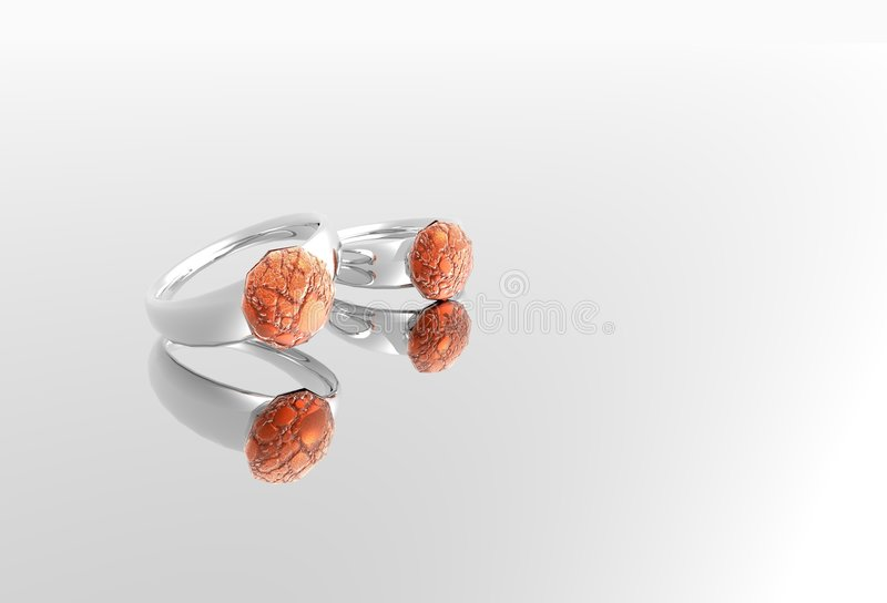 Platinum rings royalty free stock images