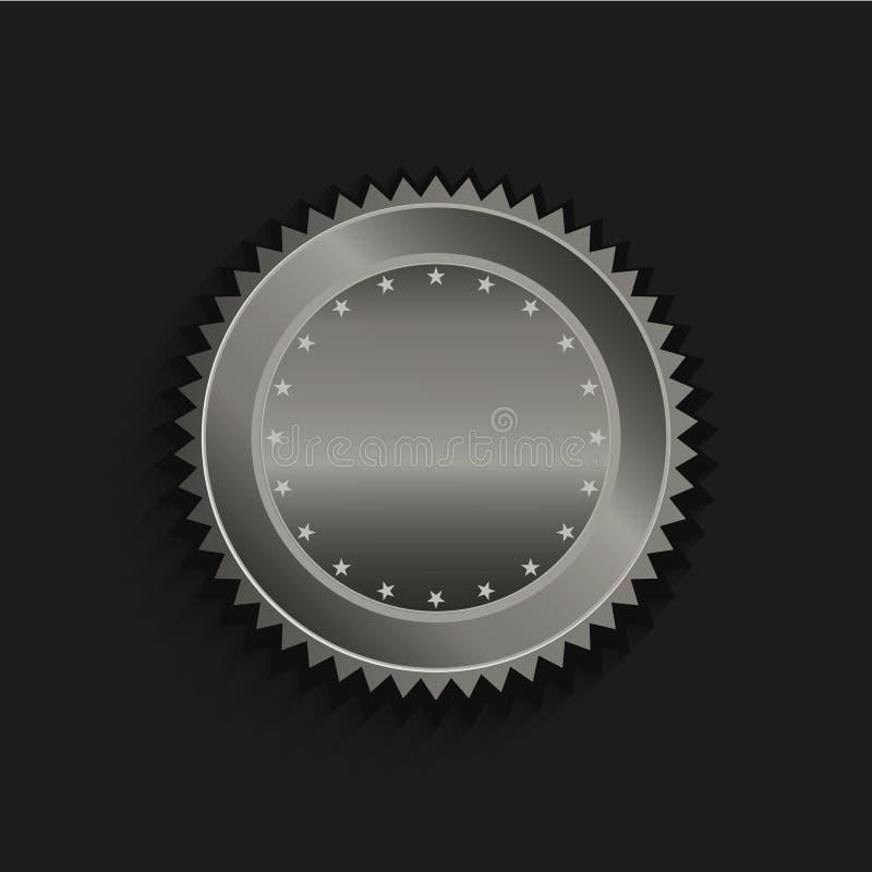 Black Luxury Golden 3d Logo Mockup: Gold Seal Logo Stock Vector. Illustration Of Award