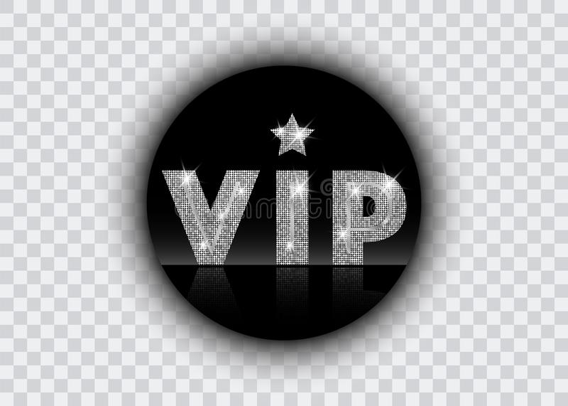 Platinum symbol of exclusivity the label VIP with glitter. Very important person VIP icon on white background Sign of exclusivity vector illustration