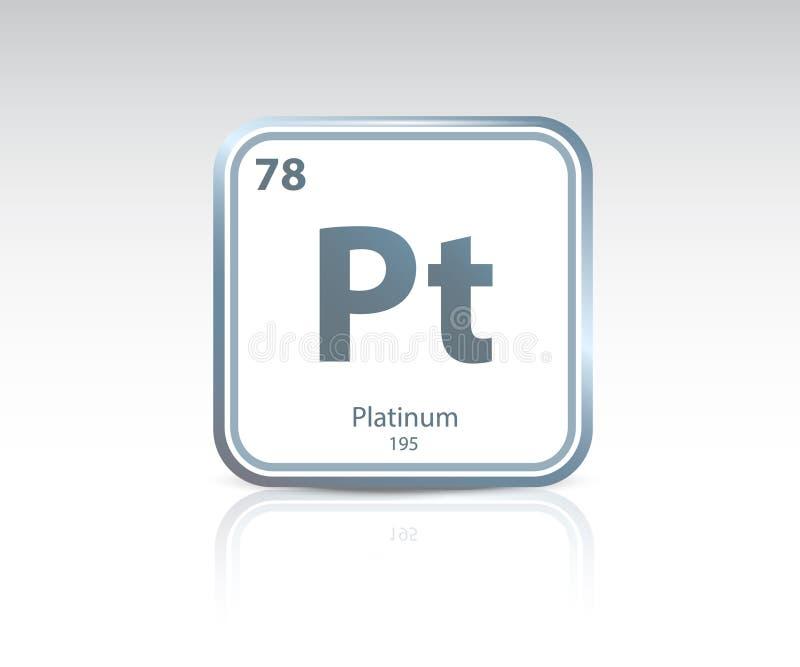 Platinum symbol icon royalty free illustration