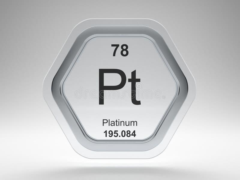 Platinum symbol hexagon frame stock illustration