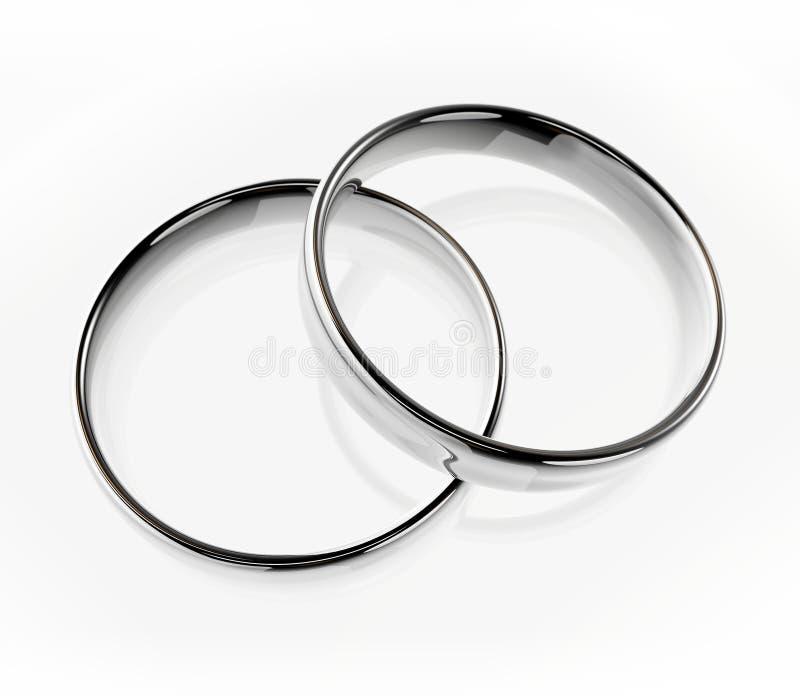 Platinum wedding rings stock images