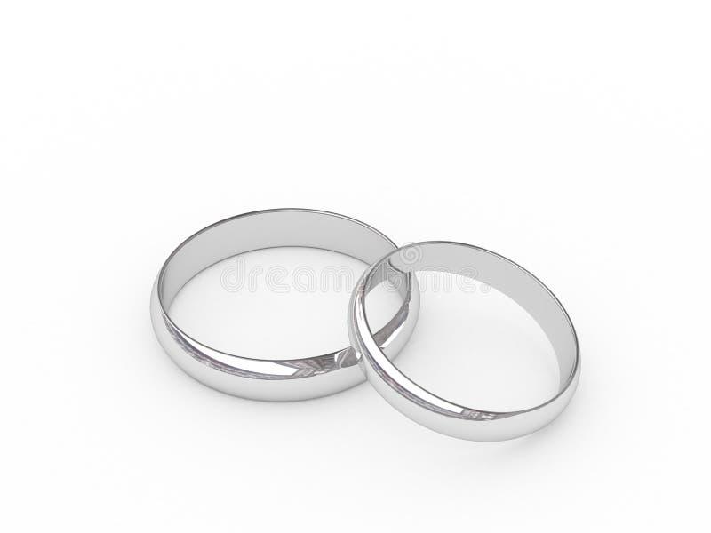 Download Platinum wedding rings stock illustration. Image of marry - 3509066