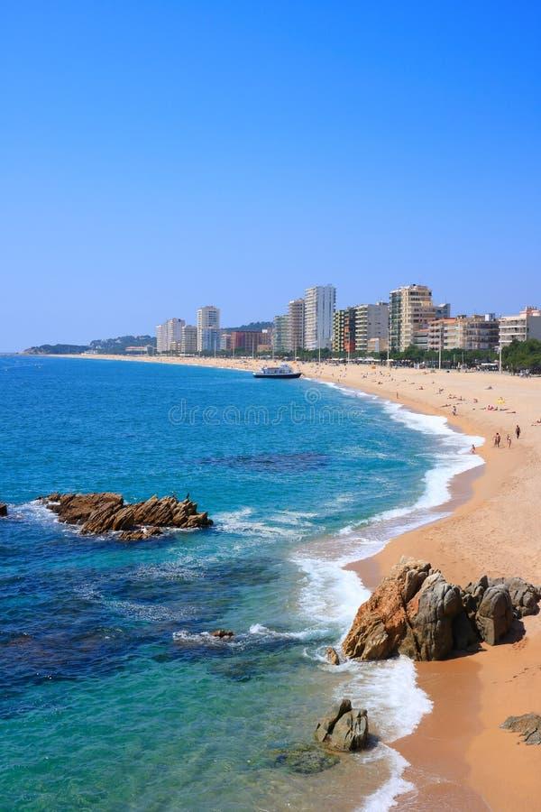 Platja d'Aro Strand (Costa Brava, Spanien) stockfotografie