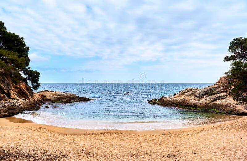 Platja D'Aro strand Costa Brava, Spanien royaltyfri foto