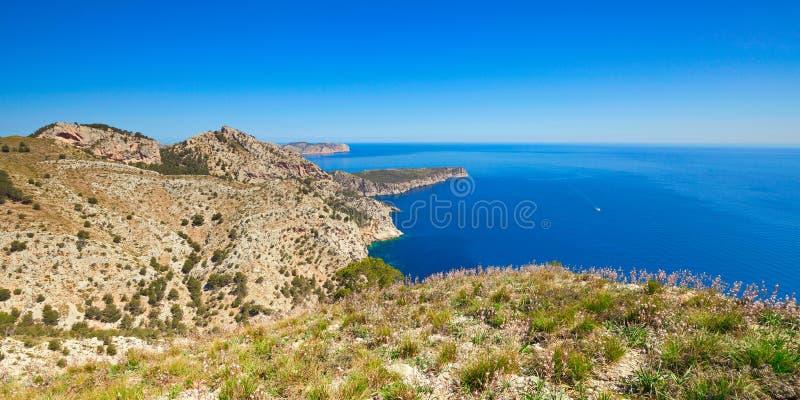 Platja des Coll Baix Μαγιόρκα Ισπανία στοκ εικόνες