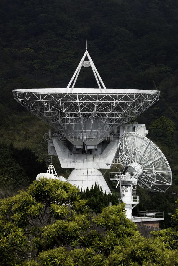 Plato basado en los satélites fotos de archivo libres de regalías