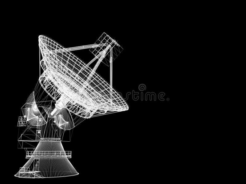 Plato basado en los satélites libre illustration