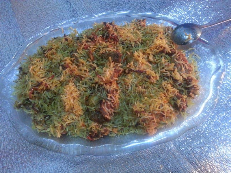 Plato cocinado Special del arroz imagen de archivo libre de regalías