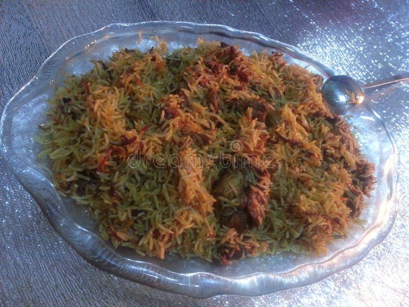 Plato cocinado Special del arroz fotografía de archivo libre de regalías
