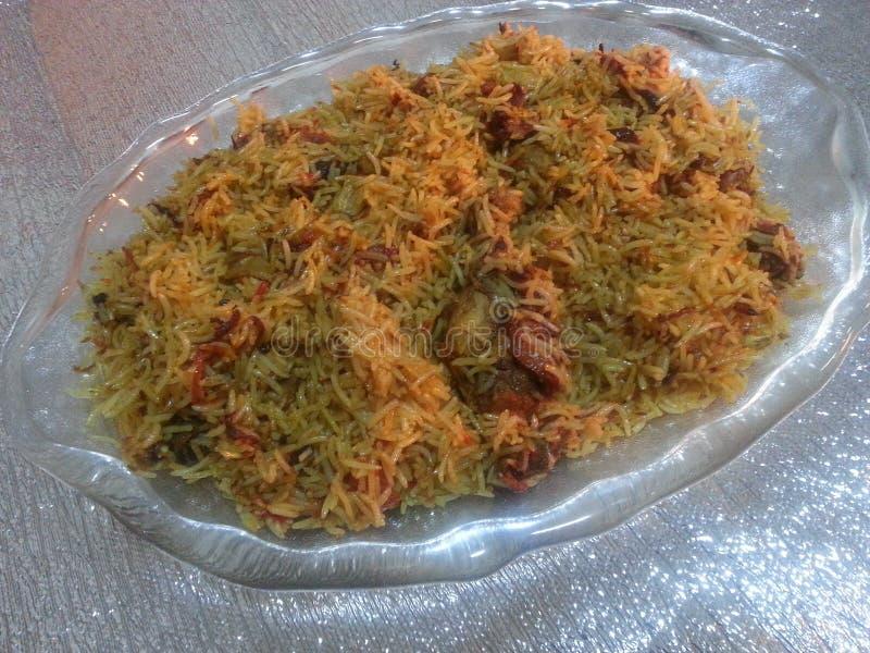 Plato cocinado Special del arroz imagen de archivo