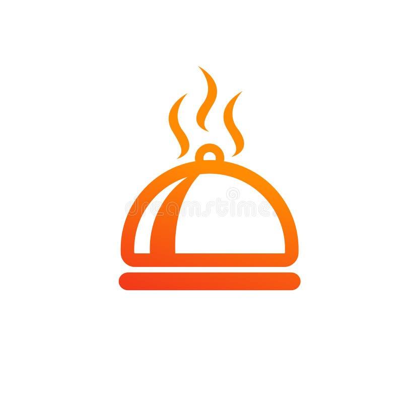 Plato, comida, caliente, comida, diseño del icono del restaurante libre illustration