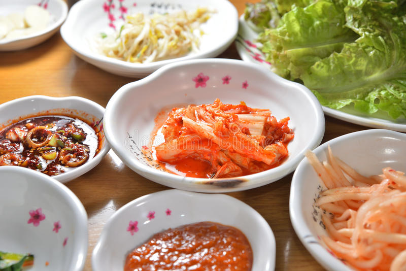 Plato coreano del kimchi imagen de archivo libre de regalías