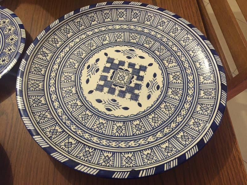 Plato de Marruecos imagenes de archivo