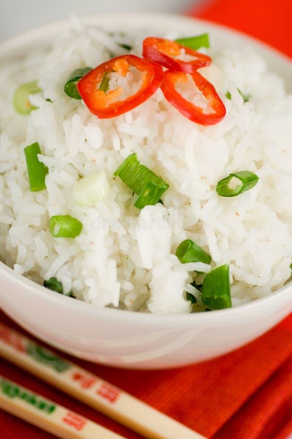 Plato del arroz fotografía de archivo