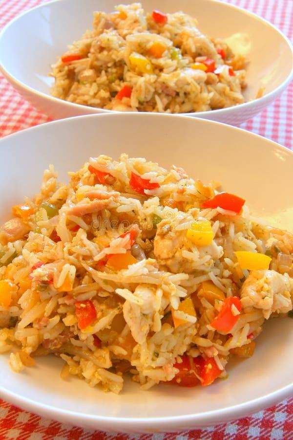 Plato del arroz del pollo imágenes de archivo libres de regalías