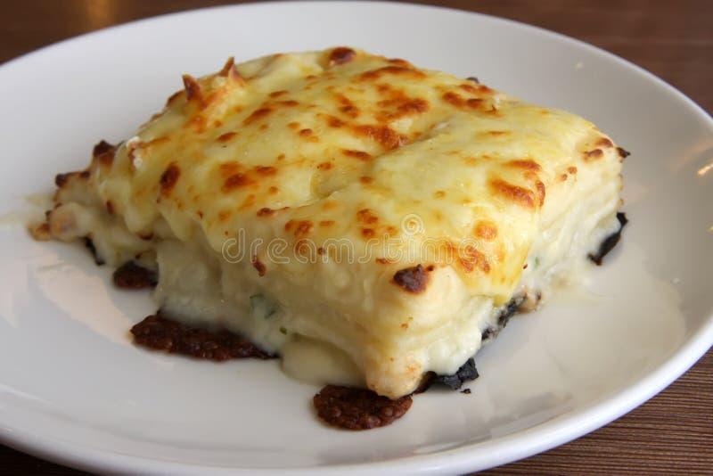 Plato del Lasagna imagenes de archivo