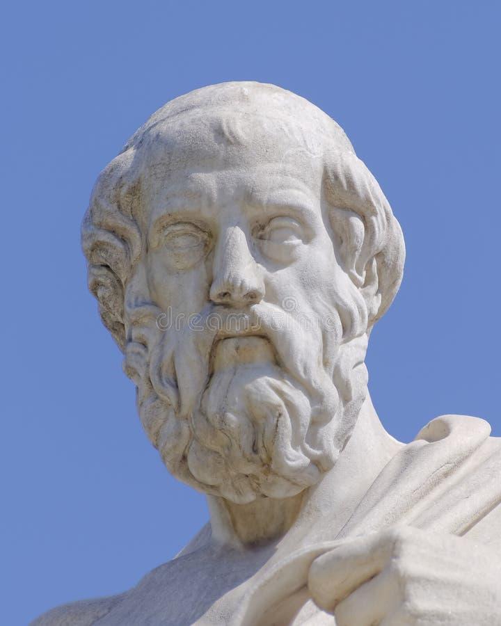 Plato filosofstatyn fotografering för bildbyråer