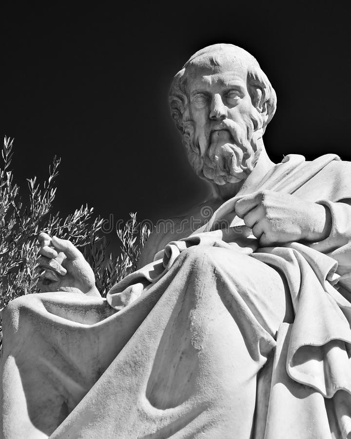 Plato gammalgrekiskafilosofen arkivbild