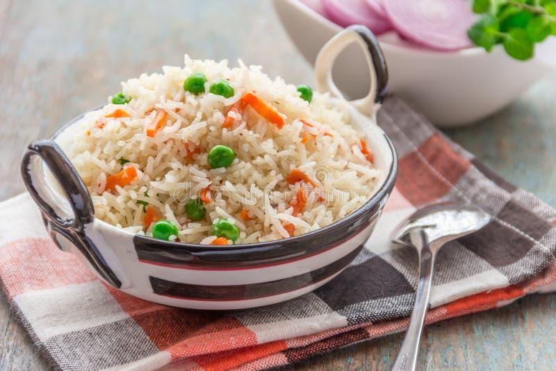 Plato indio del arroz foto de archivo libre de regalías