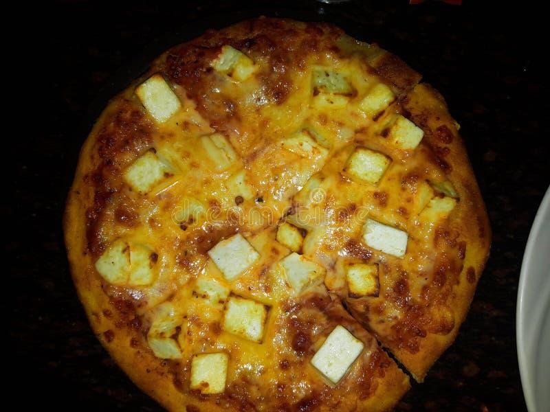 Plato italiano de la pizza-uno imagen de archivo