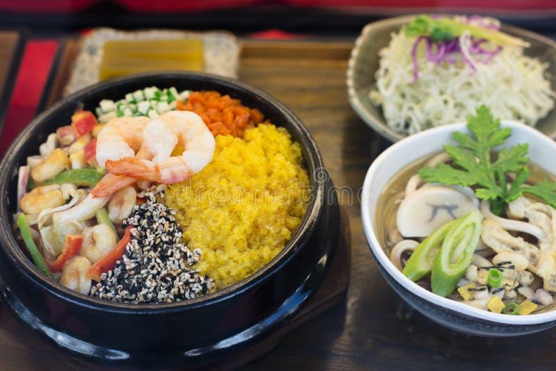 Plato mezclado coreano del arroz fotos de archivo libres de regalías
