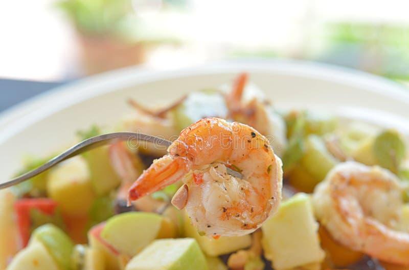 Plato picante de la ensalada del camarón foto de archivo libre de regalías