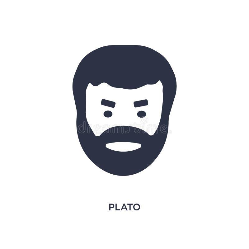 Plato-pictogram op witte achtergrond Eenvoudige elementenillustratie van het concept van Griekenland stock illustratie