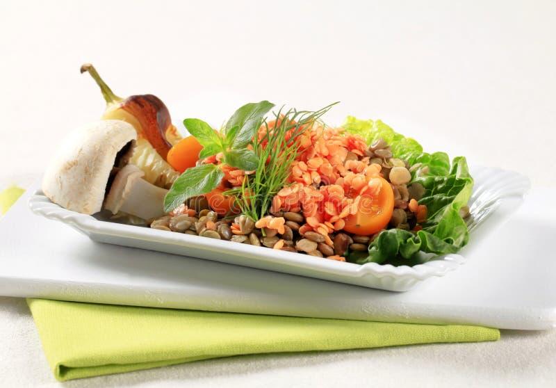 Plato vegetariano fotos de archivo