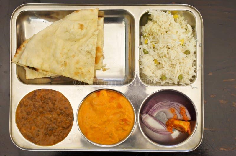Plato vegetariano de la comida india fotografía de archivo libre de regalías