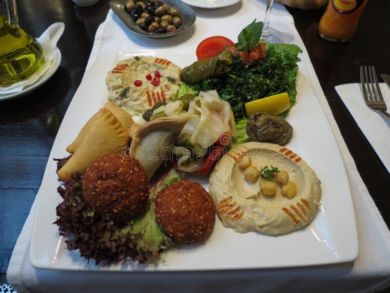 Plato vegetariano libanés fotografía de archivo libre de regalías