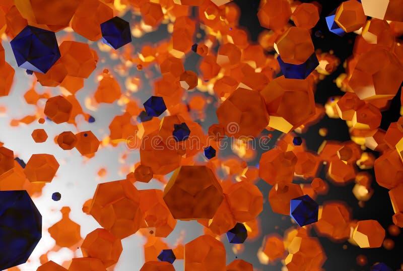 Platonischer Hintergrund des abstrakten Polygons stockbild