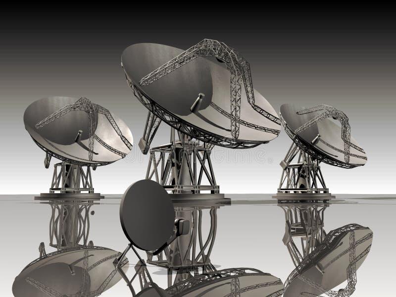 Platos basados en los satélites libre illustration