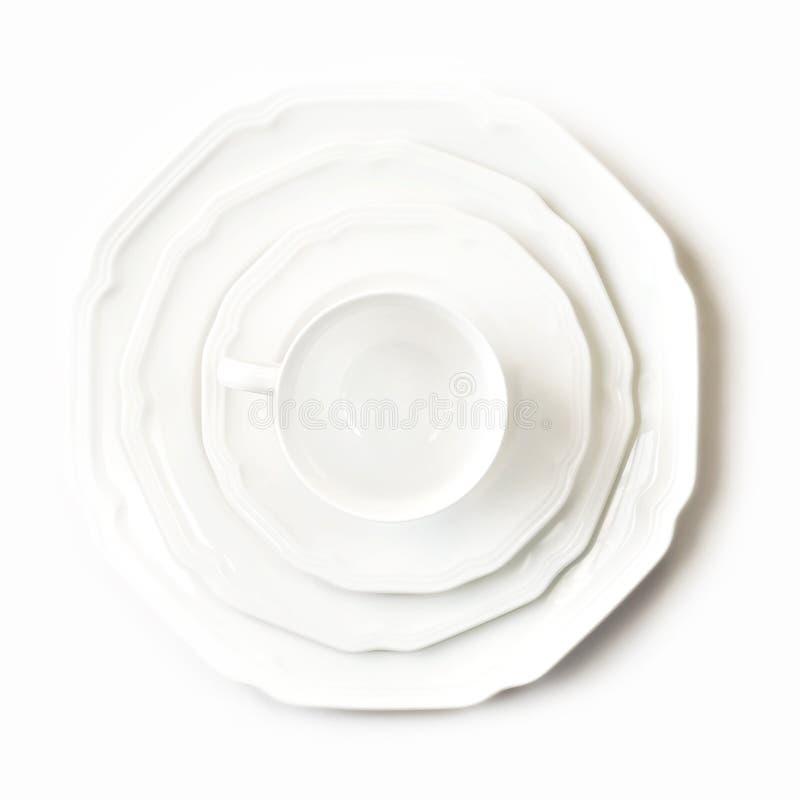 Platos blancos fotografía de archivo