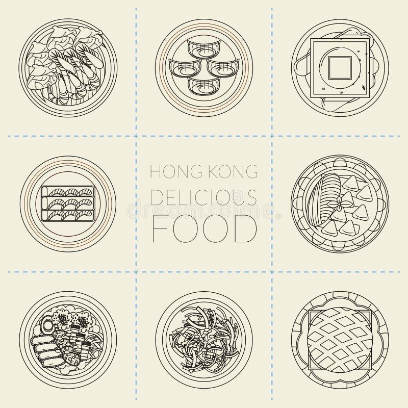Platos de Hong Kong stock de ilustración