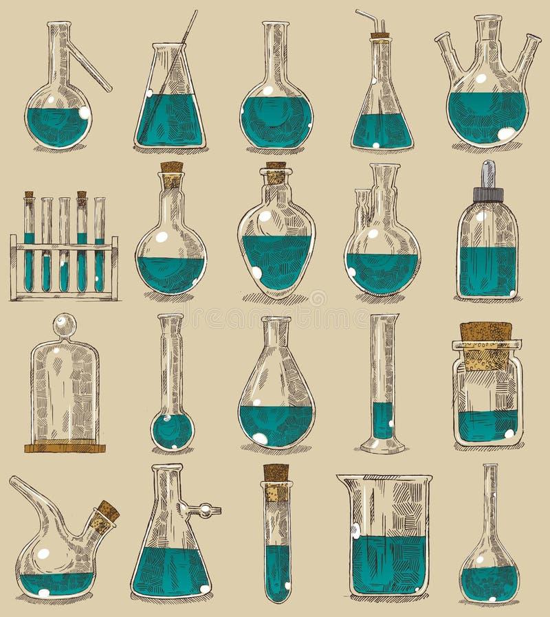 Platos de la química libre illustration