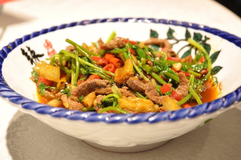 Platos huang de la carne de vaca imagen de archivo