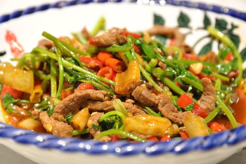 Platos huang de la carne de vaca fotografía de archivo libre de regalías