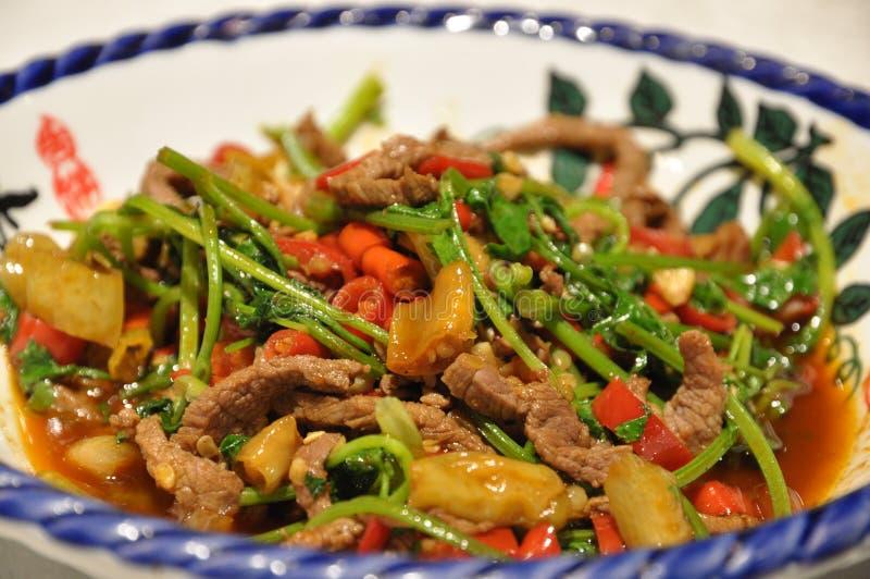 Platos huang de la carne de vaca imagen de archivo libre de regalías