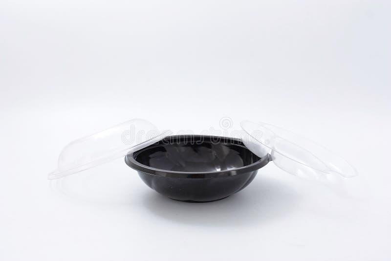 Platos plásticos ligeros disponibles para los alimentos de preparación rápida fotografía de archivo libre de regalías