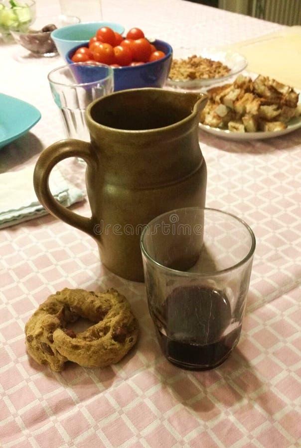 Platos tradicionales de la cocina en Italia imagen de archivo libre de regalías