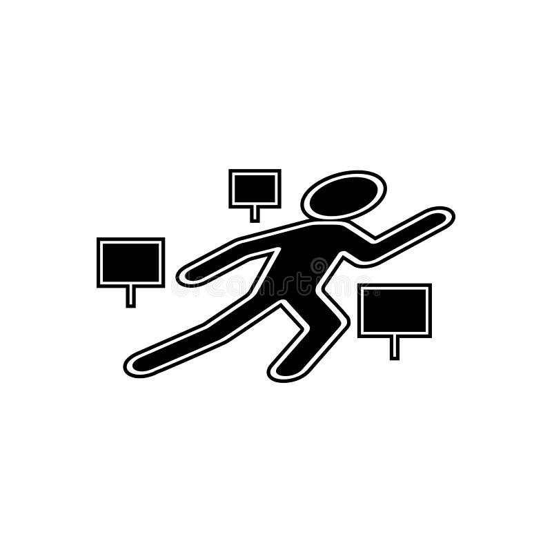 Plats av den brotts- liksymbolen Beståndsdel av Cityscape för mobilt begrepp och rengöringsdukappssymbol Skåra plan symbol för we vektor illustrationer