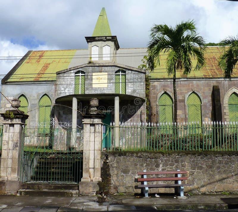 Plats av Dominica, västra Indies arkivbild