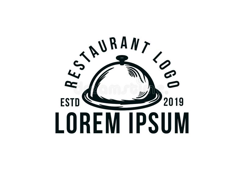 plats de boissons de nourriture de conception de menu, logo de restaurant illustration de vecteur
