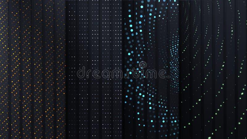 Plats de carbone de vecteur avec différents points géométriques photos libres de droits