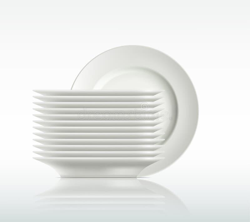 Plats de porcelaine illustration stock
